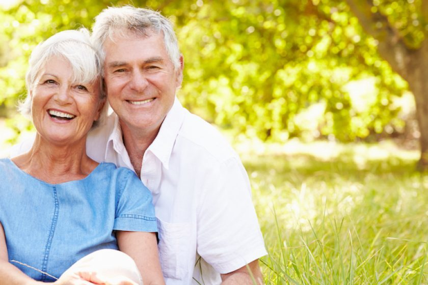 Senior couple happy with their decision to sell their term life insurance policy
