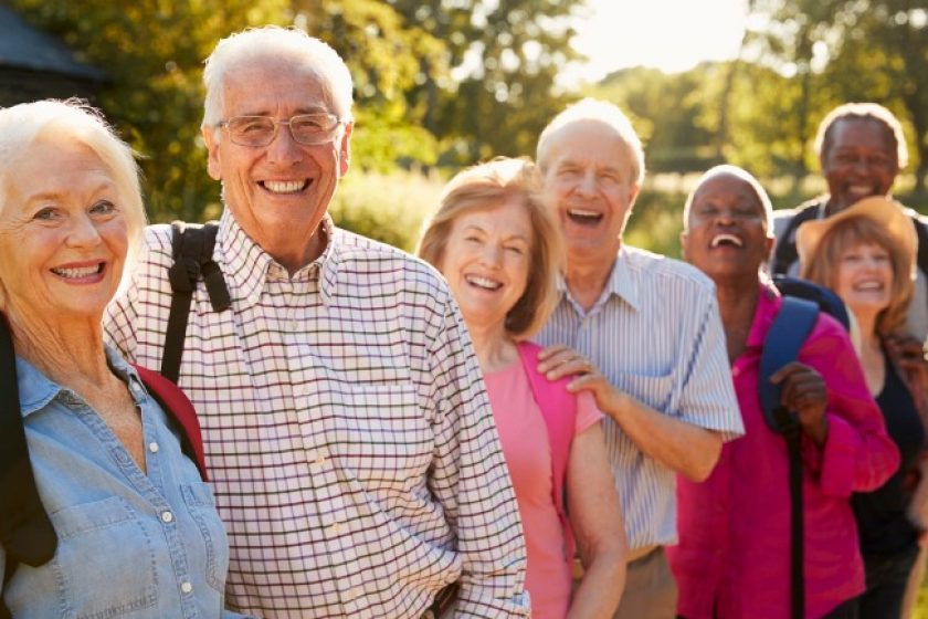 Seniors hiking after cashing in life insurance policies.
