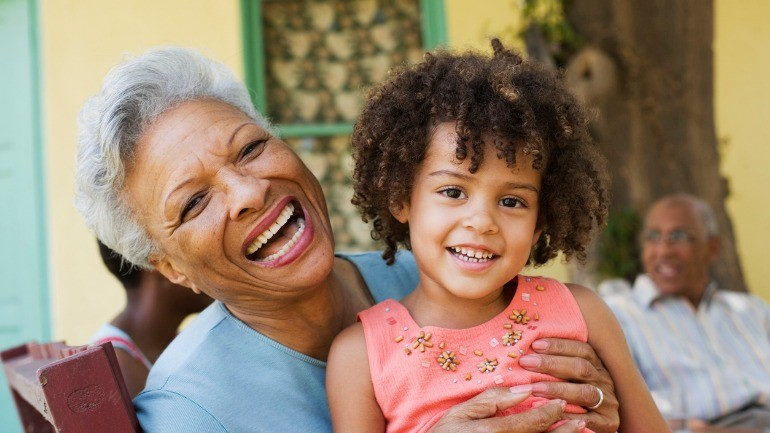 Grandma and granddaughter excited to have an accelerated death benefit.