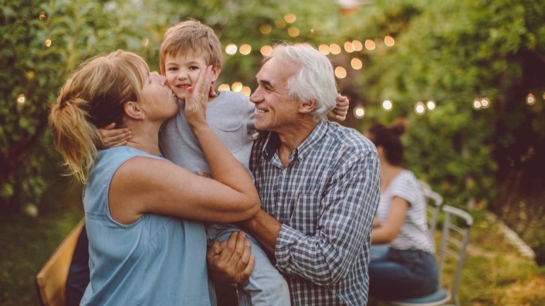 Thanksgiving with grandparents