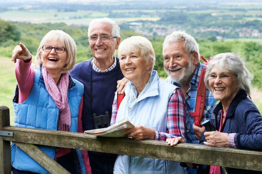 Group of active seniors, some with annuities, some with no annuity.
